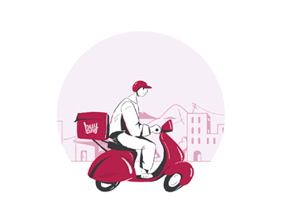 Delivery man animation