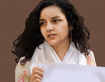 Ilustracion, Sanaa Seif Amnistia Internacional