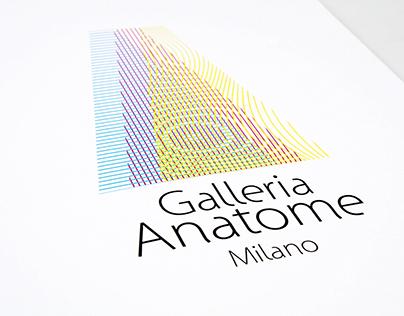 Anatome Art Gallery, brand identity design