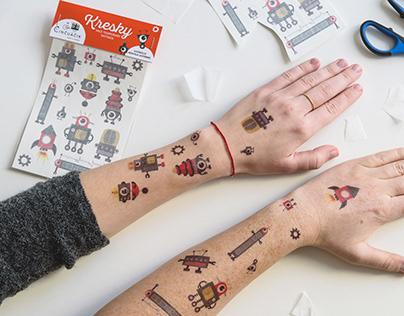 KRESKY nice temporary tattoos