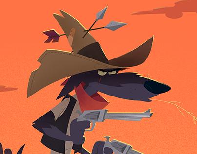 Wild Western Wolf