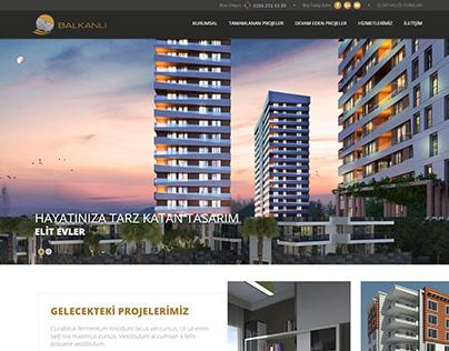 Balkanlı inşaat Responsive CSS/HTML Kodlama