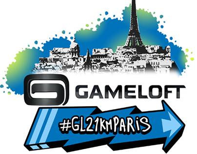 Gameloft logo for Marathon de Paris 2015