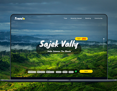 Travelo Website Landing Page