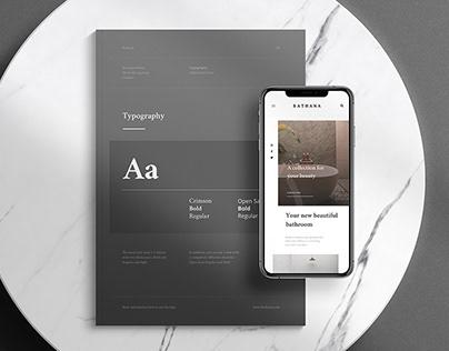 Bathana - Branding and Website