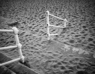 Sandy stairway