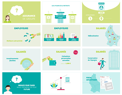Cardif Lux Vie - Infographics & Storyboards