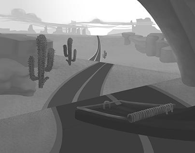 Coyote & Roadrunner background