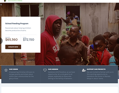 NGO Website Design. Roskern Foundation