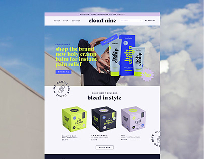 Cloud Nine | Bold, Modern Period Branding