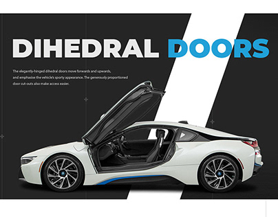Landing-page for BMW I8 test-drive