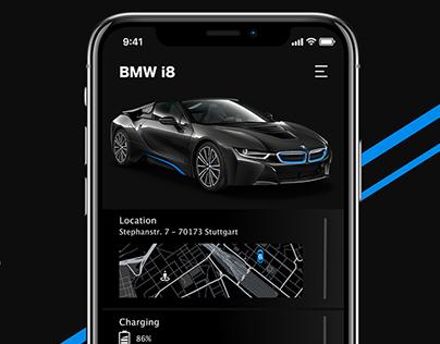 [WIP]BMW car control app - concept art