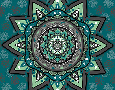 Gray Green Mandala