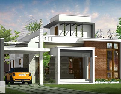 1515 sq-ft 3 bedroom modern single floor home