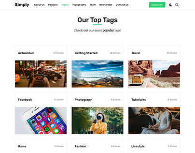 Simply Tags Page