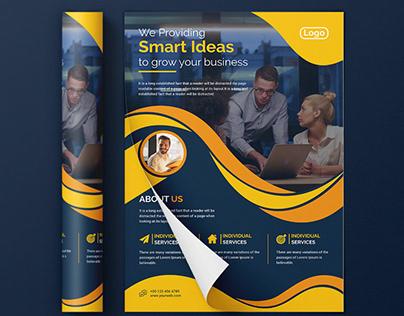 Corporate flyer design.(Client Project)