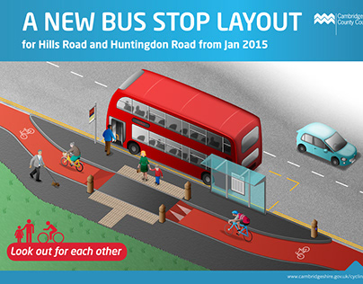 New Bus stop Poster and Leaflet