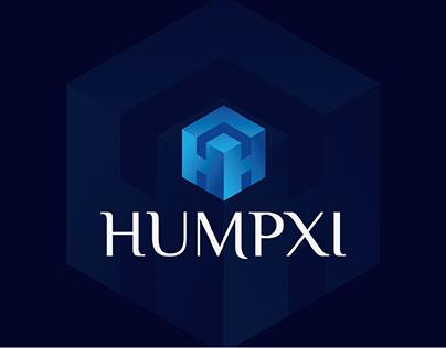 Humpxi logo, H modern logo, H logo branding, H letter