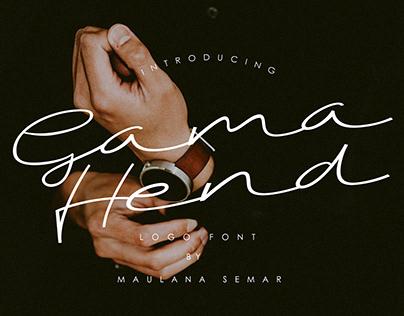 FREE Download Gama Hend-Logo Font
