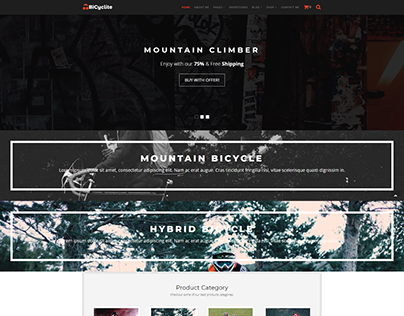 Bicyclite - WooCommerce Free ECommerce WordPress Theme