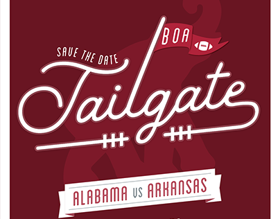 Alabama Homecoming Tailgate Save the Date