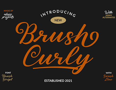 Brush Curly - Font Script