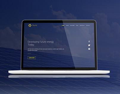 Landing Page. Green Energy Company.
