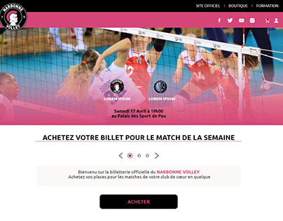 Narbonnevolley web site
