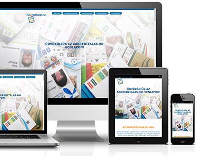 Web design - Akkreditalas.hu