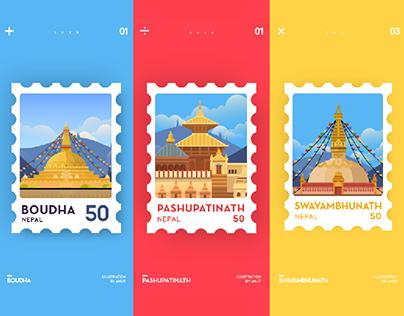 Nepal Stamp 01-03