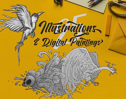 25 Illustrations & Digital Paintings