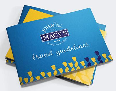 John Wm. Macy's | Rebrand + Brand Guidelines