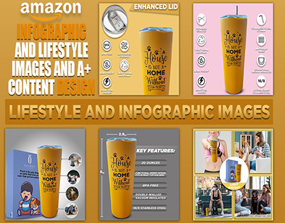 Dog Lover Tumbler Product Listing Design   For Amazon