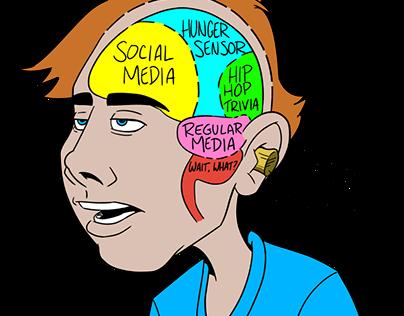 Teen Brain Magazine Illustration