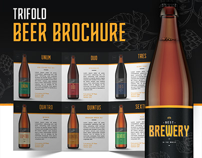 Trifold Beer Brochure Template