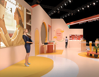 Colorful Booth Design