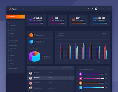 Adex - Material Design Admin Dashboard PSD Template