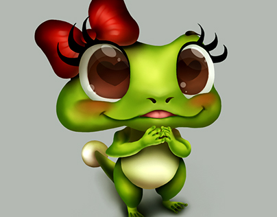 character frog in love