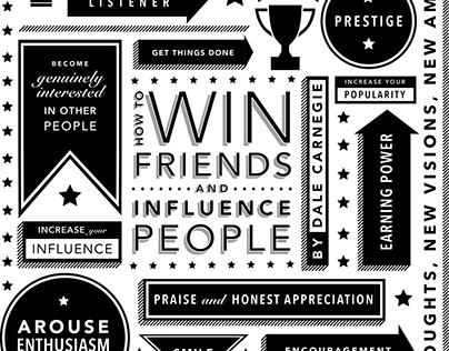 """How To Win Friends & Influence People"" Cover Design"