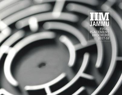 IIM Jammu Final Placement Brochure 2017-18