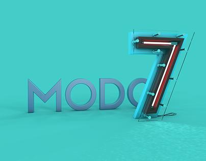 Projeto de lettering 3D para aplicação em redes | MODO7