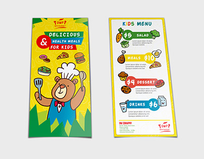 Kids Food Menu Flyer DL Size Template