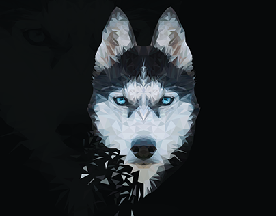 Husky Low poly