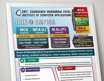 Flyer design for a University.