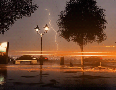 Flash lightning and thunder vfx