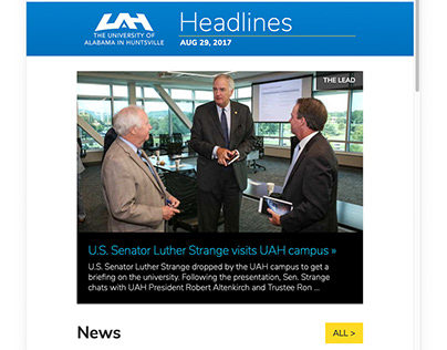Headlines - The UAH Faculty/Staff Email Newsletter
