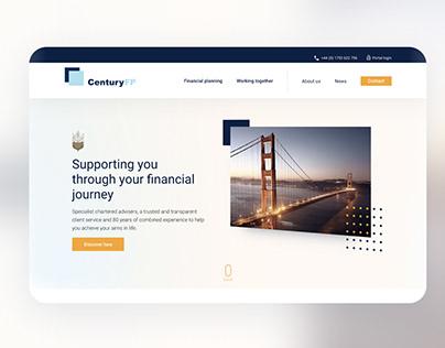 Website design for Financial Planner