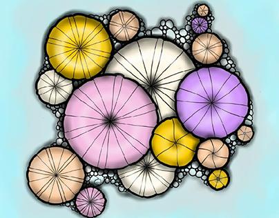 umbrellas, doughnuts or mushrooms?