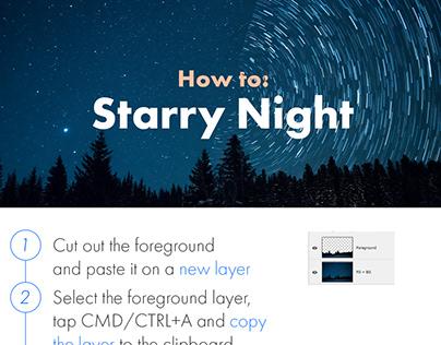 Photoshop Protip: Starry Night