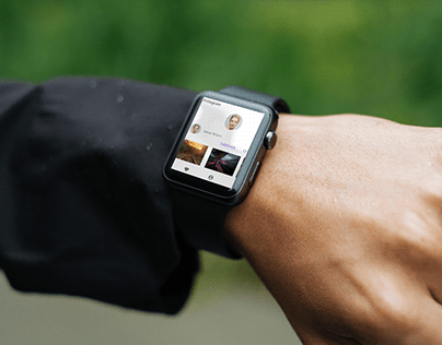 Instagram on smartwatch